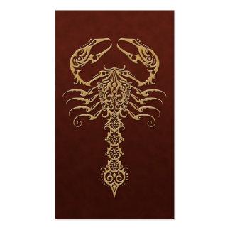 Golden Brown Tribal Scorpion Business Card