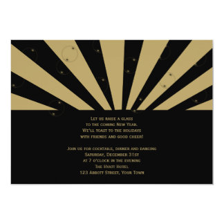 Golden Bubbles New Years Eve Party Personalized Invitation