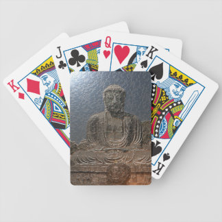 Golden budda bicycle playing cards