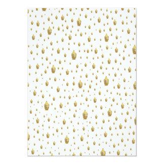 golden budda in white card
