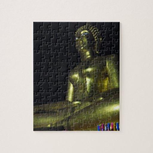 Golden Buddha at Night Puzzle