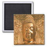 Golden Buddha - Awesome 2 Inch Square Magnet