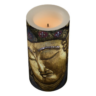 Golden Buddha Blessing Inspirational Candle Wrap