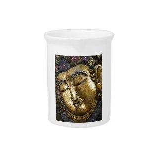 Golden Buddha Blessing Inspirational Love Beverage Pitcher