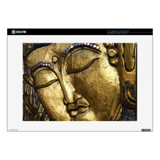 "Golden Buddha Blessing Inspirational Love Decal For 15"" Laptop"
