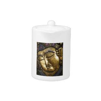Golden Buddha Blessing Inspirational Love Teapot