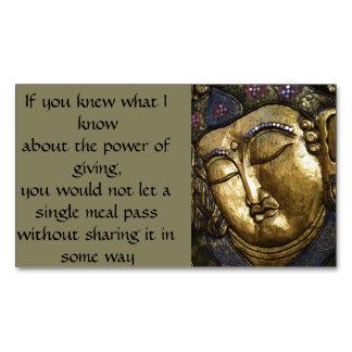 Golden Buddha Blessing Meditating Business Card