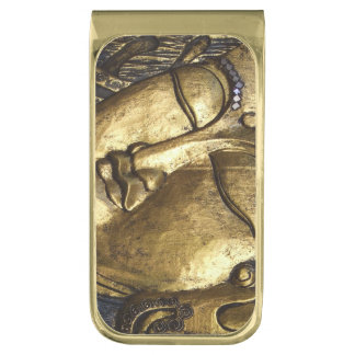 Golden Buddha Blessing Meditation Money Clip