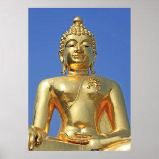 Golden Buddha Chiang Rai Thailand Poster