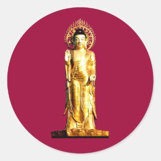 Golden Buddha Classic Round Sticker