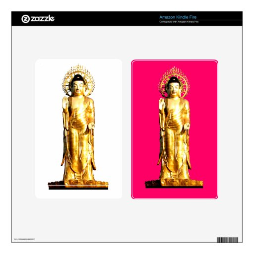 Golden Buddha Decal For Kindle Fire