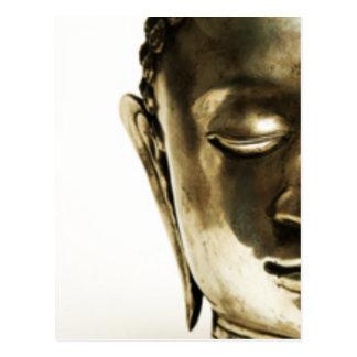 Golden Buddha Head Postcard