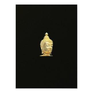 golden buddha in black card
