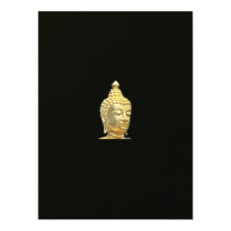 golden buddha in black card