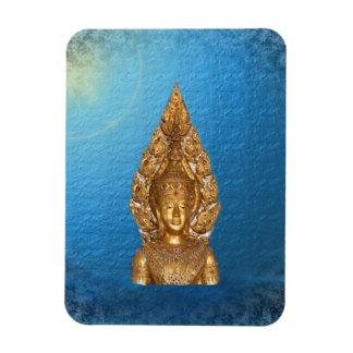 golden buddha in blue magnet