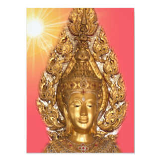 golden buddha in pink card