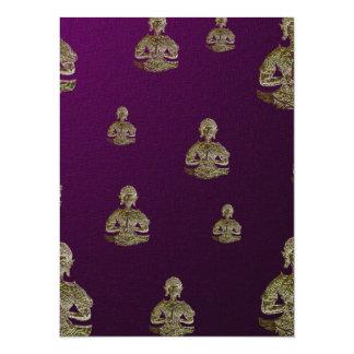 golden buddha in purple card