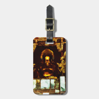 Golden Buddha Kyoto Japan Abstract Impressionism Bag Tag