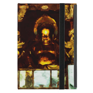 Golden Buddha Kyoto Japan Abstract Impressionism Cover For iPad Mini