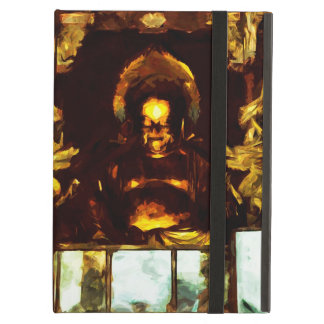 Golden Buddha Kyoto Japan Abstract Impressionism iPad Air Covers