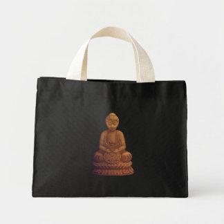 Golden Buddha Pixel Art Mini Tote Bag