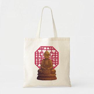 Golden Buddha Pixel Art Budget Tote Bag