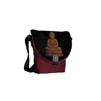 Golden Buddha Pixel Art Messenger Bags