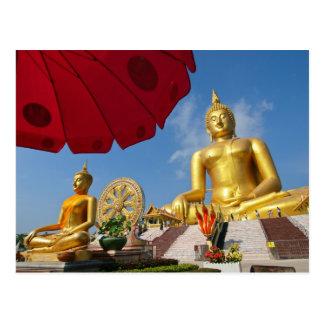 golden buddha postcard
