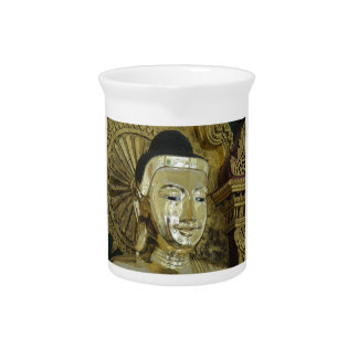 Golden Buddha Statue Inspirational Love Beverage Pitcher