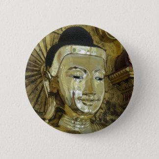 Golden Buddha Statue Inspirational Love Pinback Button