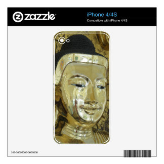 Golden Buddha Statue Inspirational Love Skin For The iPhone 4S