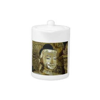 Golden Buddha Statue Inspirational Love Teapot