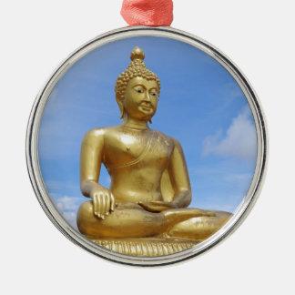 Golden Buddha statue Metal Ornament