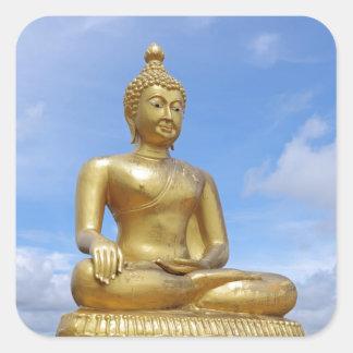 Golden Buddha statue Square Sticker