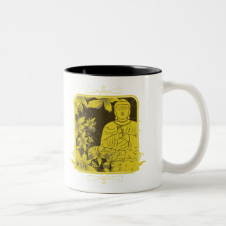 Golden Buddha Two-Tone Coffee Mug