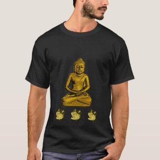 golden Buddha water lily shirt
