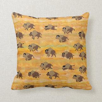 Golden Buffalo Pillow