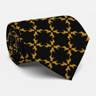 Golden Bulldogs on black Tie