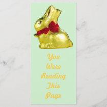 Golden Bunny Bookmark Template