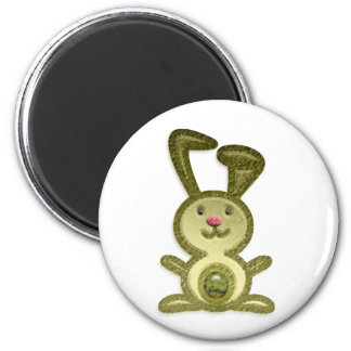 Golden Bunny Refrigerator Magnet