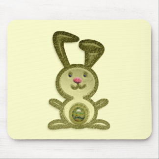 Golden Bunny Mouse Pad