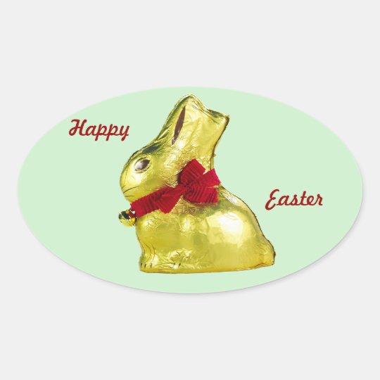 Golden Bunny Ocal Sticker
