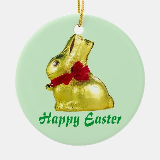 Golden Bunny Ornament