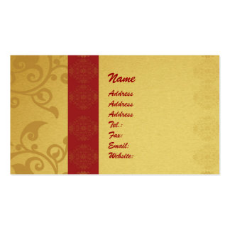 Golden business card 2 sided printed
