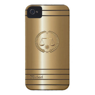 Golden Business & Legal Lawyer Blackberry Bold Cas Case-Mate iPhone 4 Case