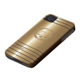 Golden Business & Legal Lawyer iPhone 4 Case casematecase