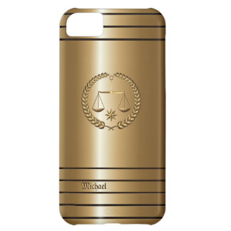 Golden Business & Legal Lawyer iPhone 5 C Case Cover For iPhone 5C