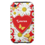 Golden Butterflies Daisy Garden Love Tough iPhone 3 Case