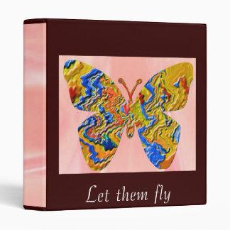 Golden Butterflies   -  Let them fly Binder
