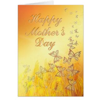 Golden Butterflies Mother's Day card